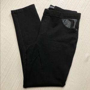 DKNY JEAN Mid Rise Pull On Ponte Pant Sz L  #2155